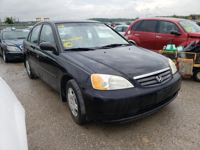 Salvage cars for sale from Copart Kansas City, KS: 2002 Honda Civic LX