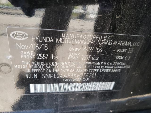 2019 HYUNDAI SONATA SE 5NPE24AF3KH755241