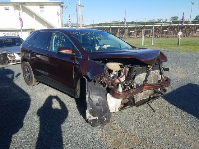 Salvage 2015 FORD EDGE - Small image. Lot 47615051