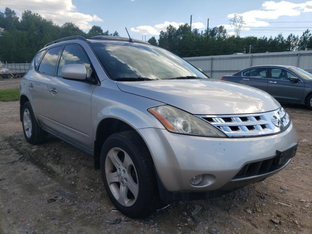 Salvage cars for sale from Copart Charles City, VA: 2004 Nissan Murano SL