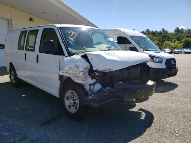 Salvage trucks for sale at Exeter, RI auction: 2016 Chevrolet Express G2
