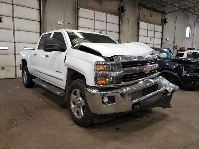 Salvage cars for sale from Copart Blaine, MN: 2015 Chevrolet 2500 HD