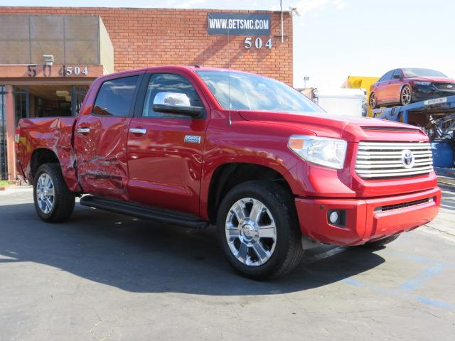 Salvage cars for sale from Copart Rancho Cucamonga, CA: 2014 Toyota Tundra CRE