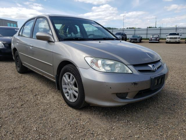 Salvage cars for sale from Copart Nisku, AB: 2005 Honda Civic LX