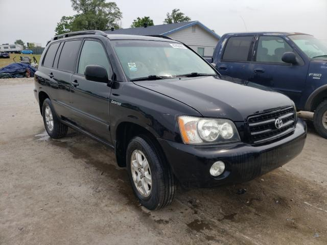 Salvage cars for sale from Copart Sikeston, MO: 2002 Toyota Highlander