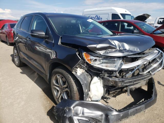 Salvage cars for sale from Copart Brighton, CO: 2017 Ford Edge Titanium