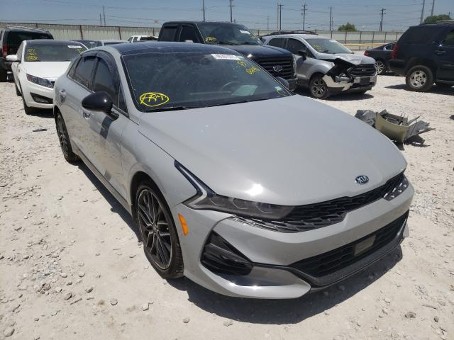 Salvage cars for sale from Copart Haslet, TX: 2021 KIA K5 GT