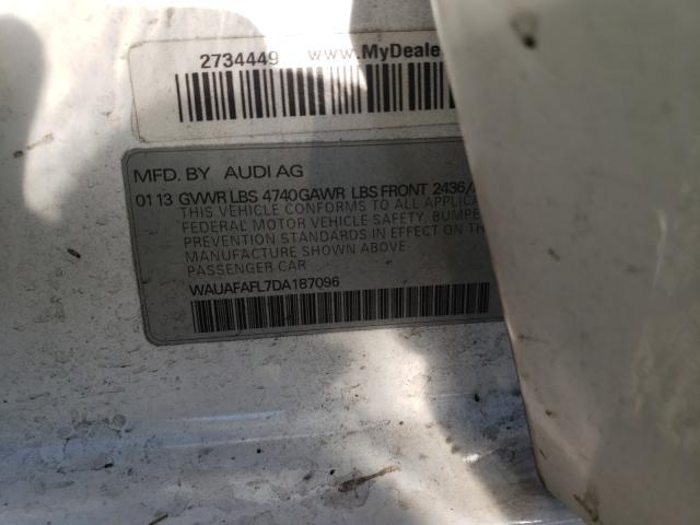 2013 AUDI A4 PREMIUM WAUAFAFL7DA187096