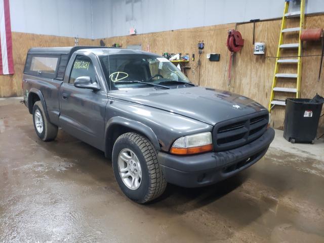 Salvage cars for sale from Copart Kincheloe, MI: 2003 Dodge Dakota SXT