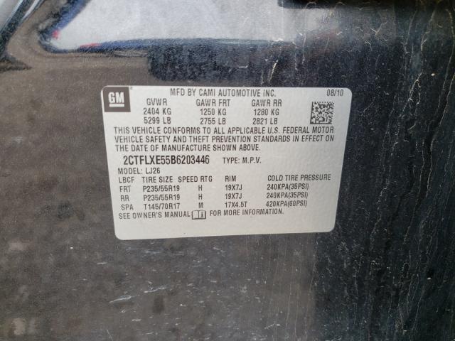 2011 GMC TERRAIN SL 2CTFLXE55B6203446