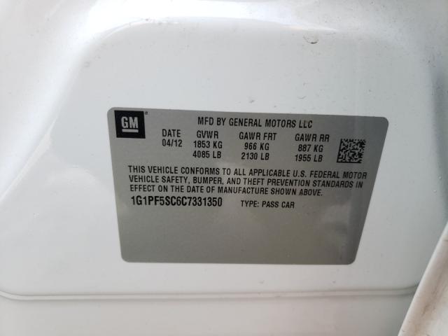 2012 CHEVROLET CRUZE LT 1G1PF5SC6C7331350