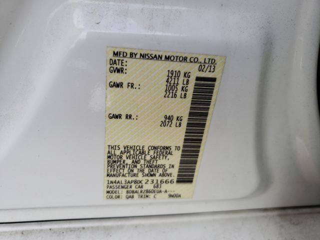 2013 NISSAN ALTIMA 2.5 1N4AL3AP8DC231666