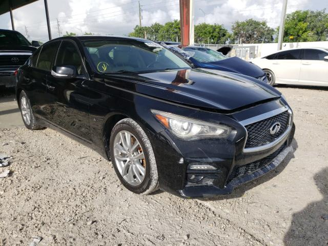 Salvage cars for sale from Copart Homestead, FL: 2014 Infiniti Q50 Base