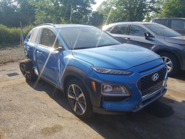 Salvage cars for sale from Copart Marlboro, NY: 2021 Hyundai Kona Ultim
