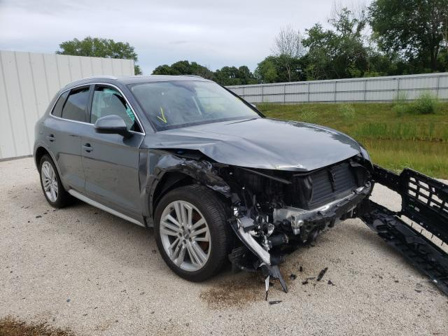 Salvage cars for sale from Copart Milwaukee, WI: 2018 Audi Q5 Premium