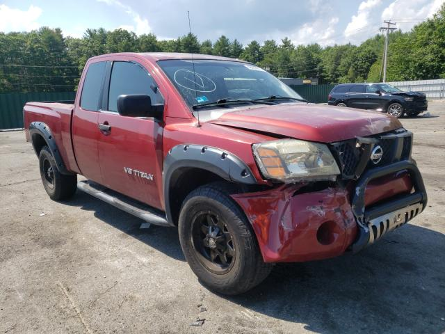 Salvage cars for sale from Copart Exeter, RI: 2005 Nissan Titan XE