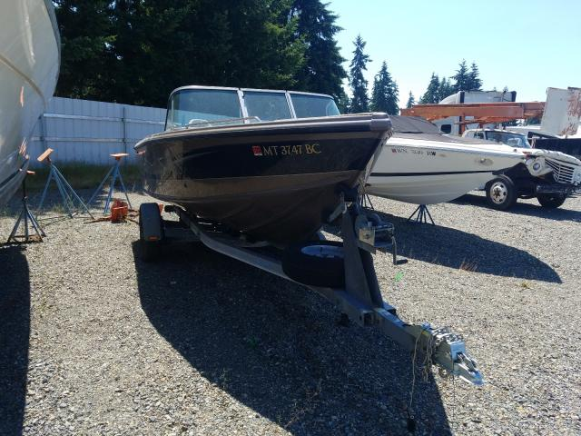 Salvage boats for sale at Graham, WA auction: 2017 Lund Boat With Trailer