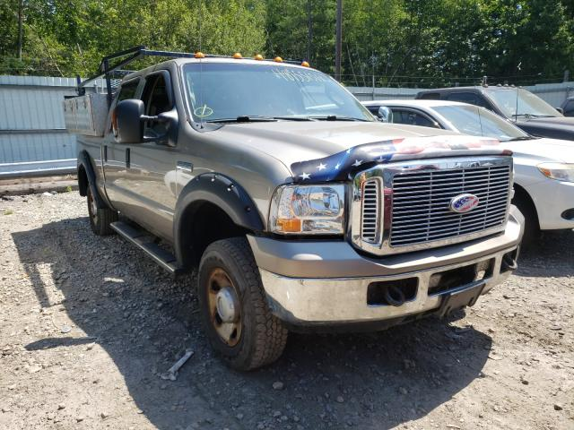 Salvage cars for sale from Copart North Billerica, MA: 2005 Ford F250 Super