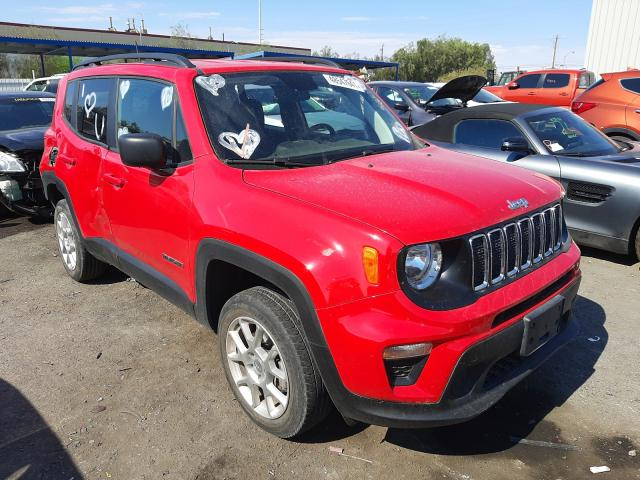 Salvage cars for sale at Las Vegas, NV auction: 2019 Jeep Renegade S