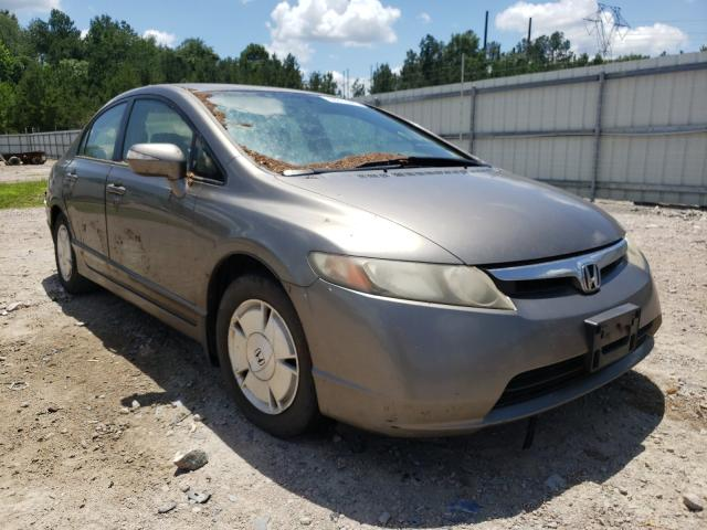 Salvage cars for sale from Copart Charles City, VA: 2006 Honda Civic Hybrid