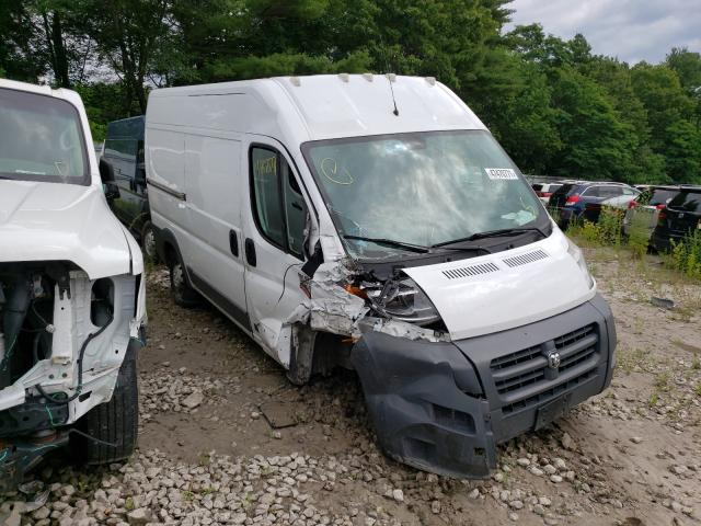 Salvage cars for sale from Copart Mendon, MA: 2016 Dodge RAM Promaster