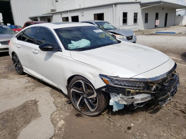 Salvage cars for sale from Copart Riverview, FL: 2021 Honda Accord Sport