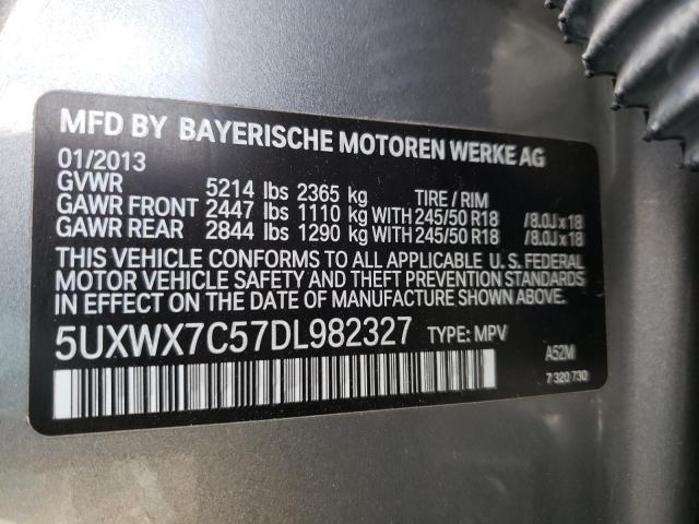 2013 BMW X3 XDRIVE3 5UXWX7C57DL982327