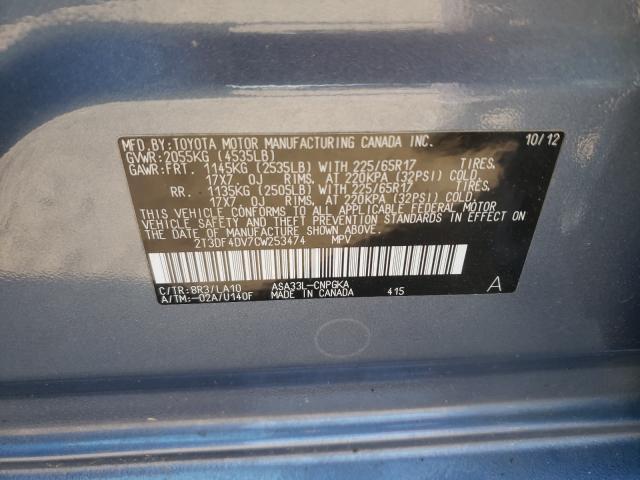2012 TOYOTA RAV4 LIMIT 2T3DF4DV7CW253474