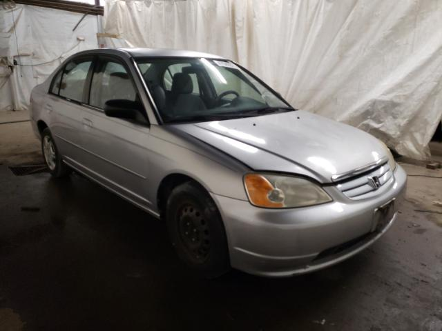 Salvage cars for sale from Copart Ebensburg, PA: 2002 Honda Civic LX