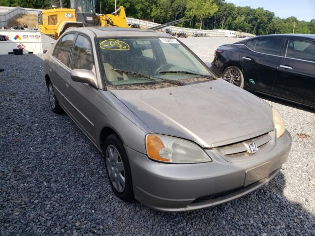 Salvage cars for sale from Copart Gastonia, NC: 2001 Honda Civic EX