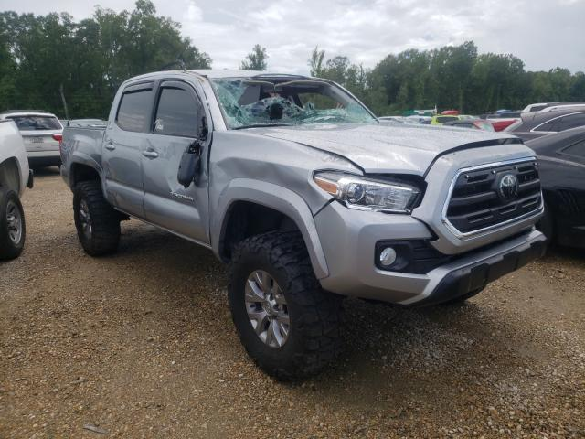 Salvage cars for sale from Copart Greenwell Springs, LA: 2018 Toyota Tacoma DOU