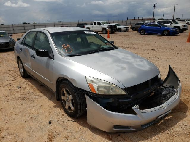 Salvage cars for sale from Copart Andrews, TX: 2007 Honda Accord VAL