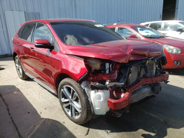 Salvage cars for sale from Copart Windsor, NJ: 2017 Ford Edge Sport