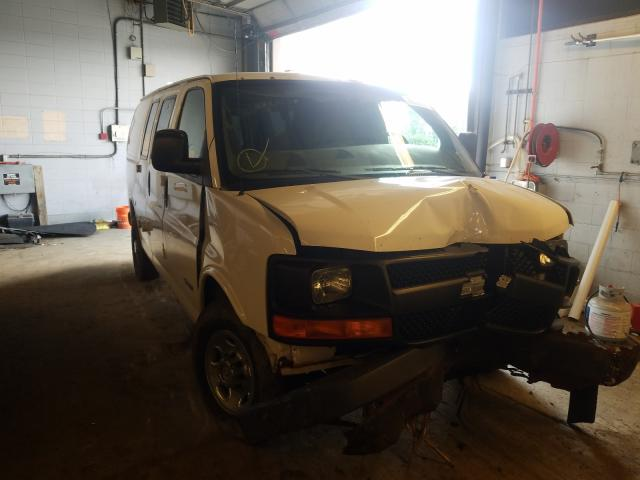 Salvage cars for sale from Copart Wheeling, IL: 2006 Chevrolet Express G2
