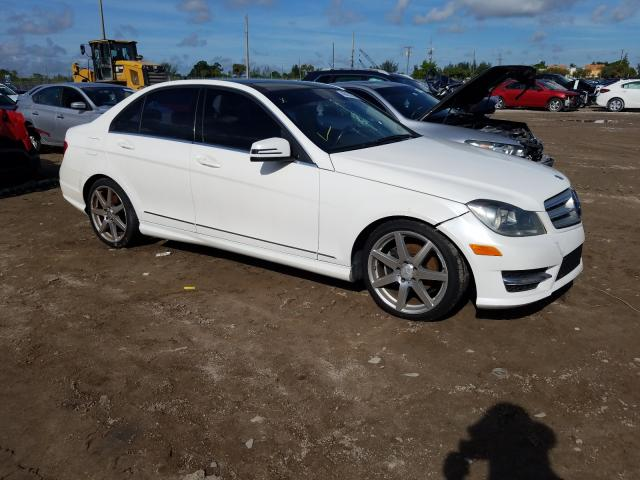 Salvage cars for sale from Copart West Palm Beach, FL: 2013 Mercedes-Benz C 250