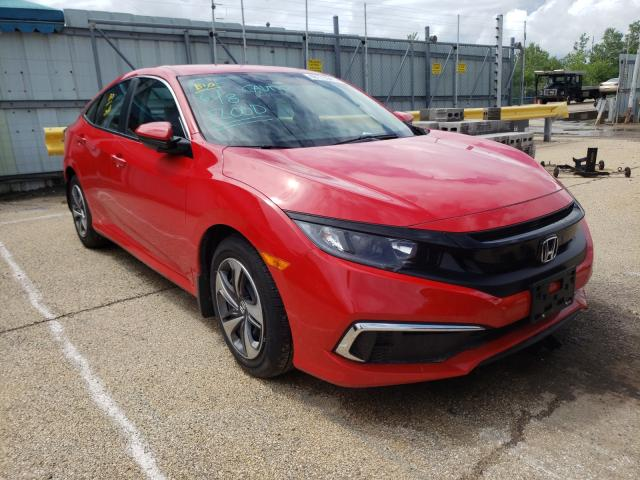 Salvage cars for sale from Copart Pekin, IL: 2020 Honda Civic LX