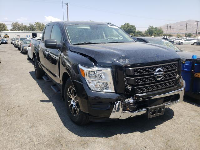 Salvage cars for sale from Copart Colton, CA: 2021 Nissan Titan S
