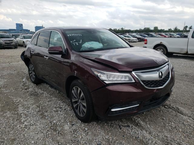 Salvage cars for sale from Copart Des Moines, IA: 2016 Acura MDX Techno