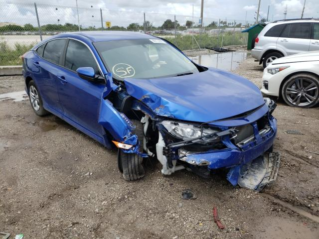 Salvage cars for sale from Copart West Palm Beach, FL: 2018 Honda Civic LX
