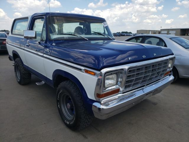 Ford Bronco salvage cars for sale: 1978 Ford Bronco
