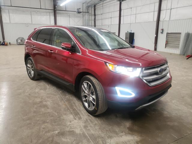 Salvage cars for sale from Copart Gastonia, NC: 2017 Ford Edge Titanium