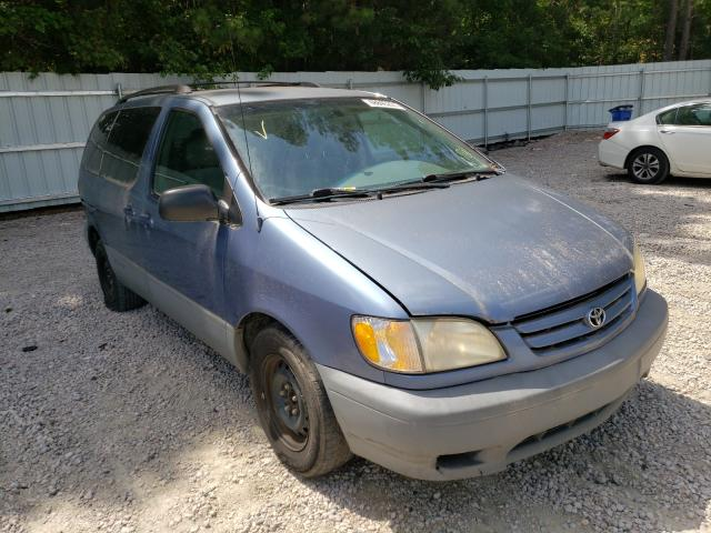 Salvage cars for sale from Copart Knightdale, NC: 2002 Toyota Sienna CE