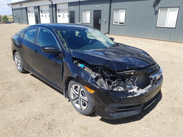 Salvage cars for sale from Copart Nisku, AB: 2018 Honda Civic LX