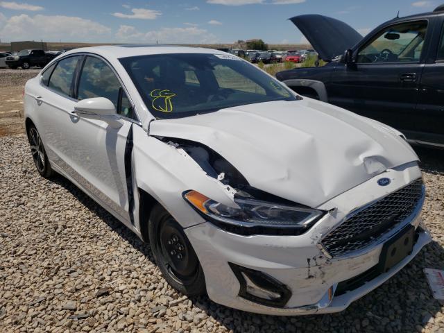 Salvage cars for sale at Magna, UT auction: 2019 Ford Fusion Titanium