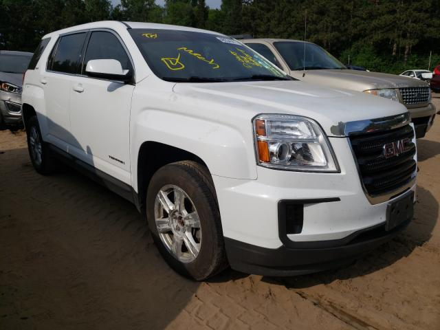 Salvage cars for sale from Copart Ham Lake, MN: 2016 GMC Terrain SL