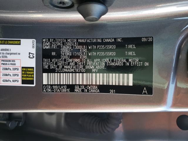 2021 LEXUS RX 350 2T2JZMAA6MC183100