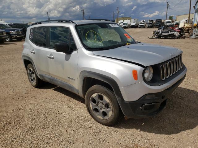 2017 Jeep Renegade S en venta en Casper, WY