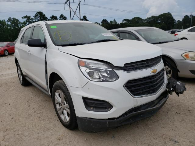 Salvage cars for sale from Copart Greenwell Springs, LA: 2017 Chevrolet Equinox LS
