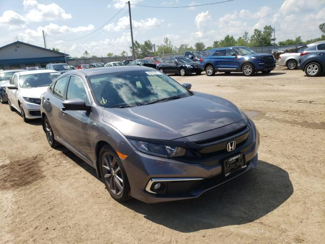 Salvage cars for sale from Copart Pekin, IL: 2021 Honda Civic EX