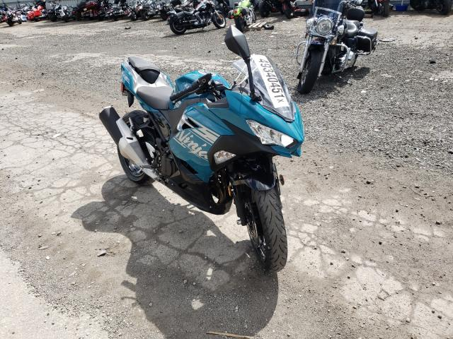 Salvage cars for sale from Copart West Mifflin, PA: 2021 Kawasaki EX400